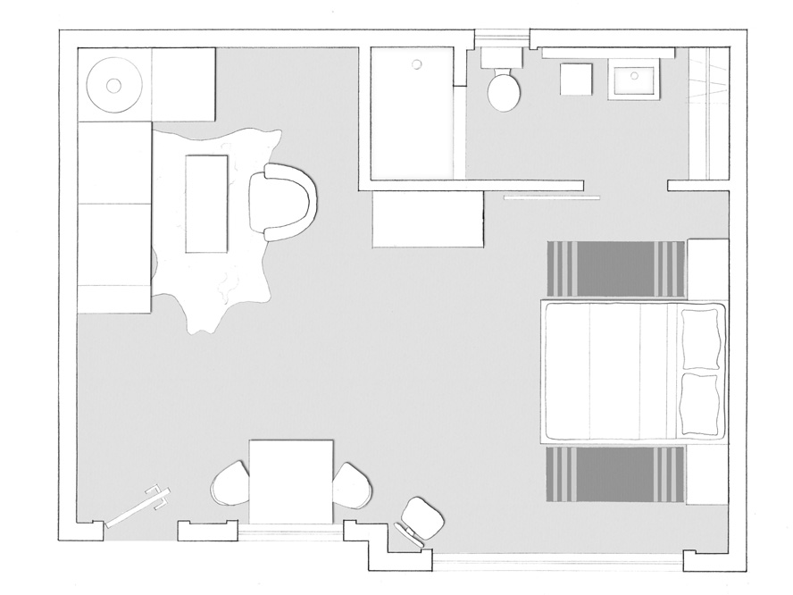 Floorplan of the Grand Suite at Hotel San Jose