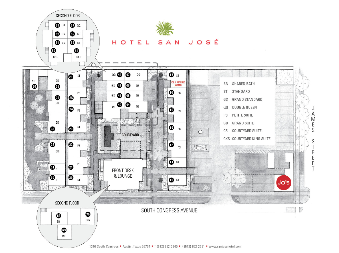 Hotel San Jose Floorplan